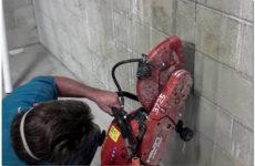 Алмазная резка стен и межкомнатных перегородок из кирпича без пыли