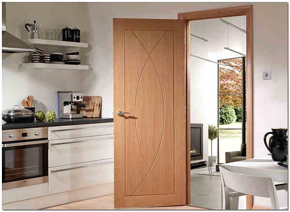 Одностворчатая распашная межкомнатная дверь фото