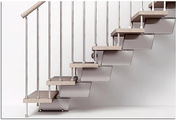 Модульная лестница на второй этаж в частном доме