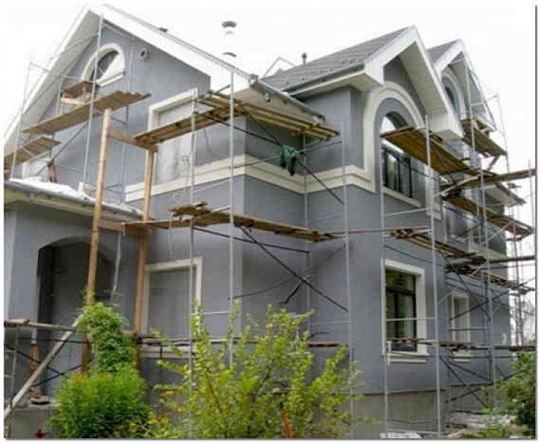 Ремонт фасада частного дома своими руками фото