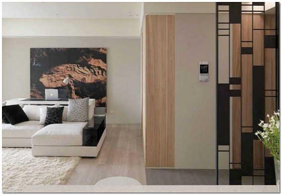 Современный японский интерьер комнаты студии