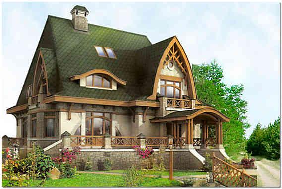 Загородный частный дом с мансардой