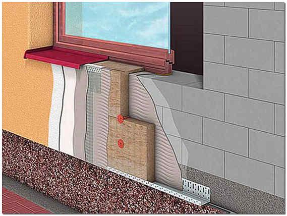 Мокрый фасад фрагмент