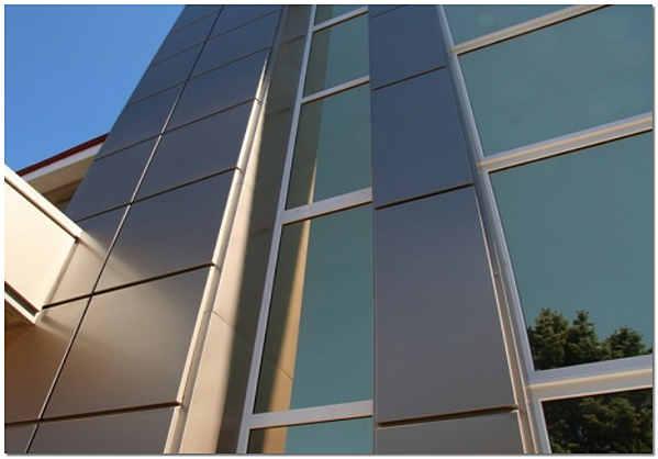 Вентилируемый алюминиевый фасад