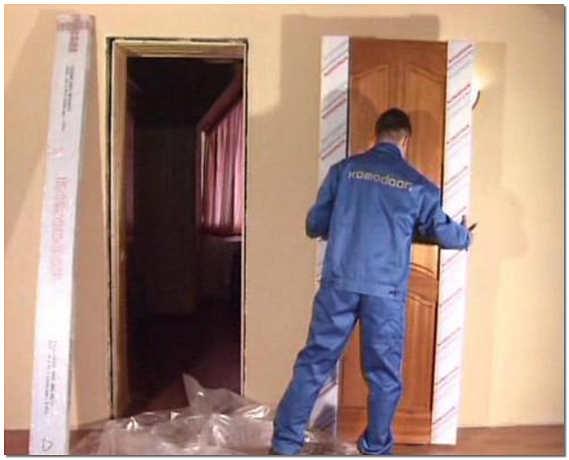 Установка двери в гипсокартонную перегородку