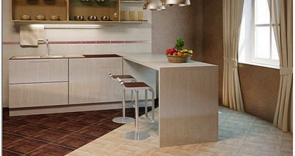 Керамическая напольная плитка для кухни
