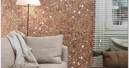 Пробковые обои для стен листовые и рулонные: особенности, методика наклеивания и уход