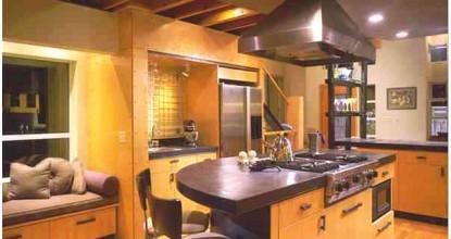 Варианы отделки стен и потолка на кухне