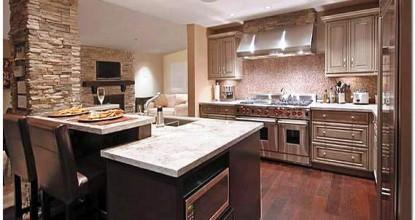 Современный ремонт кухни: потолок из гипсокартона