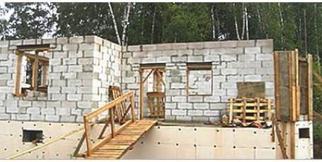 Как построить баню из пеноблоков пошаговая