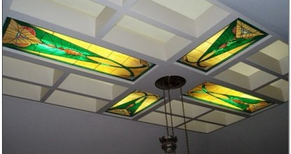 Витражные потолки с подсветкой – ноу-хау в оформлении потолка