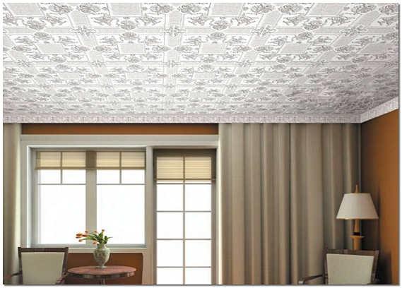 Потолки из пенополистирольной плитки фото