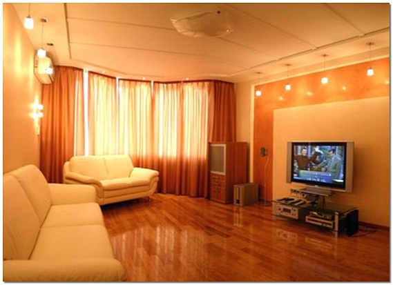 Евроремонт зала фото