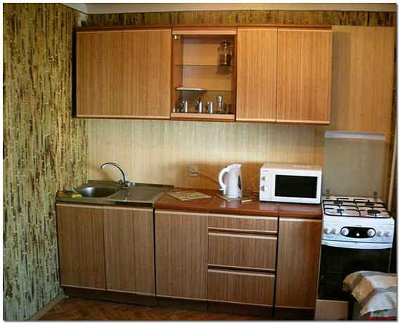 Бамбуковые обои в интерьере кухни фото