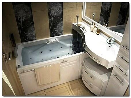 Ультрамодный дизайн стандартной ванной комнаты