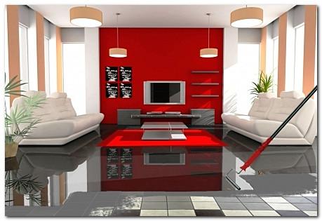 Дизайн прект современной гостиной