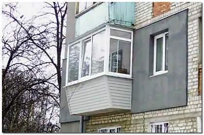 Обшивка балкона снаружи виниловым сайдингом