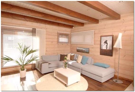 Окрашивание стен в деревянном доме фото
