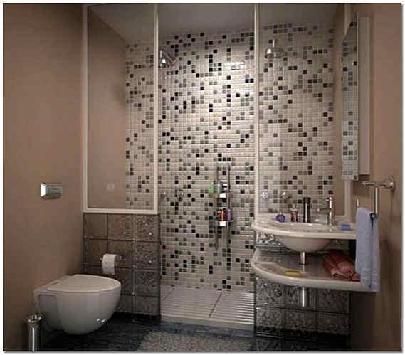 Отделка мозаикой ванной комнаты фото