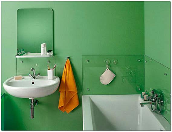 Покраска стен в ванной фото
