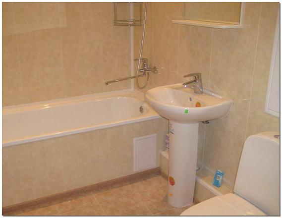 Облицовка ванной панелями фото