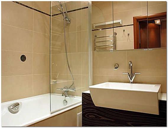 Вариант отделки ванной комнаты в хрущевке