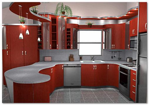 Эксклюзивный вариант отделки кухни фото
