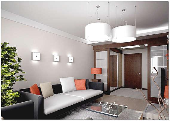 Дизайн интерьера двухкомнатной квартиры в панельном доме