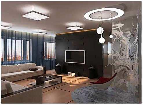 Дизайн интерьера двухкомнатной квартиры после перепланировки