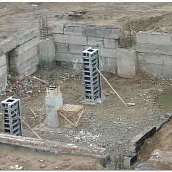 Фундамент из блоков фбс фото