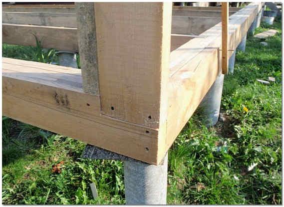 Фундамент из столбов для каркасной бани фото