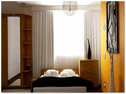 Обустройство маленькой спальни фото