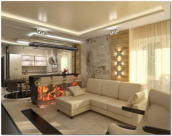 Современный стиль декорирования интерьера двухкомнатной квартиры фото