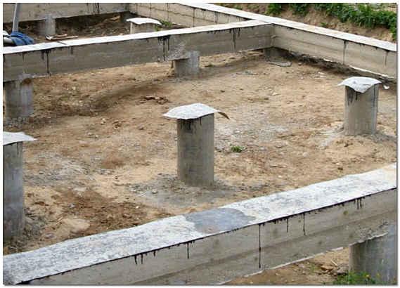 Свайно-ростверковый фундамент фото