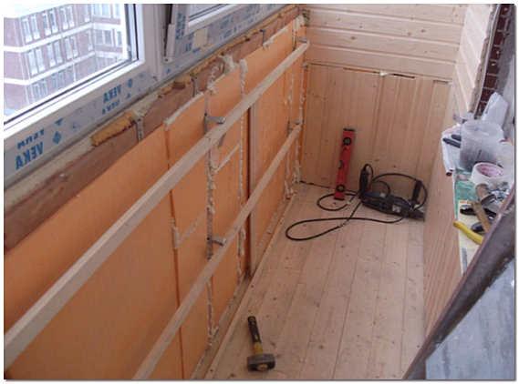Утепление и отделка балкона пенополистиролом фото