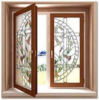 Дизайн окна имитации европейского стиля