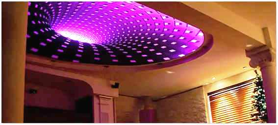 Натяжной подвесной потолок с 3D эффектом