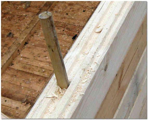 Крепление бруса деревянным нагилем фото