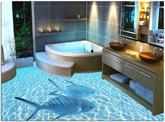 Полиуретановый наливной пол для ванной комнаты фото