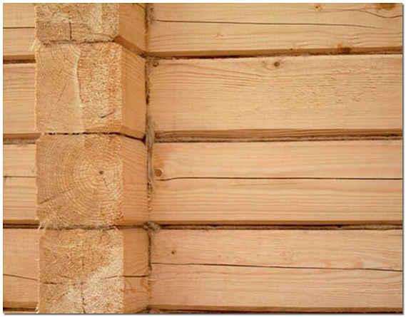 Стена из бруса для бани фото