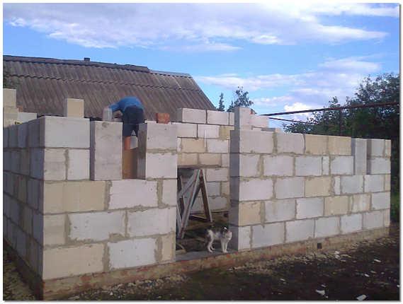 Строительство бани из пеноблока своими руками
