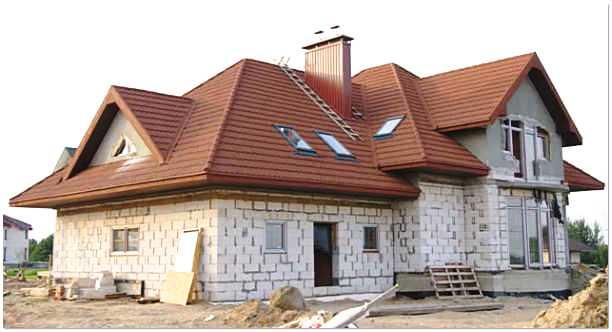 Строительство загородного дома из пеноблоков
