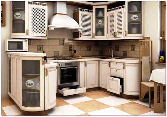 Угловая кухня идеальна в плане эргономики пространства