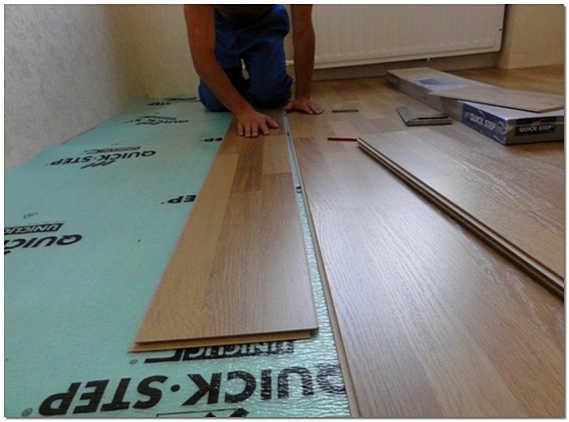 Ламинат укладка на деревянный пол фото