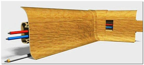 Пластиковый плинтус с кабель каналом фото