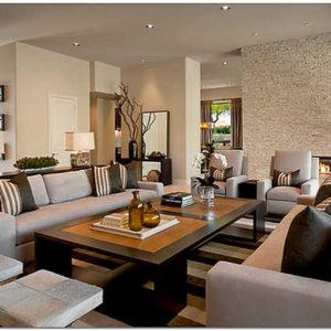 Отделка и оформление стен в гостиной: варианты отделки