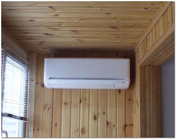 Используем для утепления балкона кондиционер