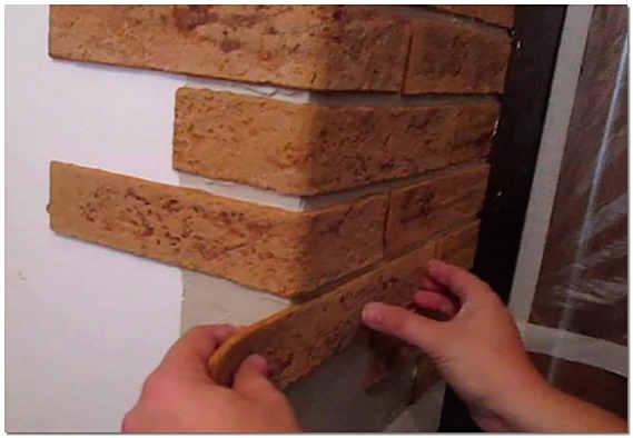 Отделка арки камнем фото