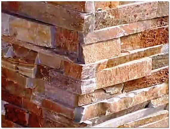 Фасад облицованный камнем