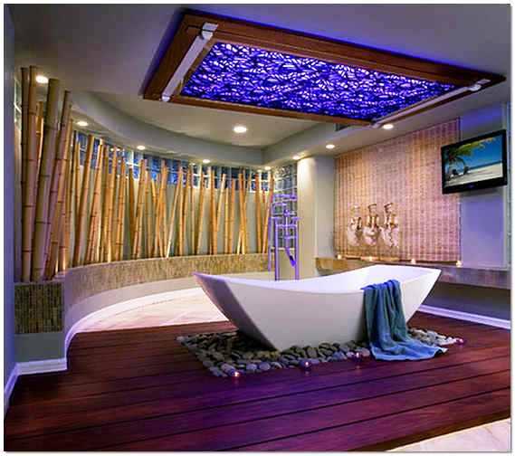 Современный стиль в оформлении ванной комнаты